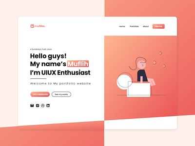 Web Portofolio Design flat ux ui branding portfolio web portfolio app web webdesign design
