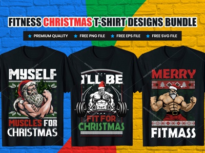 Fitness Christmas T-Shirt Designs Bundle typography tshirt design merch by amazon shirts typography design create gym clothing custom design gym wear gym quotes fitness shirts motivational gym shirts fitness t-shirt quotes gym xmas t shirt design gym xmas t shirt design t-shirt design ideas free designs for t-shirts t-shirt design template how to design t-shirts holiday t-shirt design christmas shirts christmas t-shirts christmas shirt ideas for family