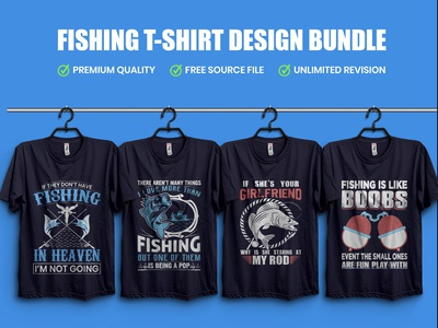 Fishing T-Shirt Design Template - Typography Tshirt Design