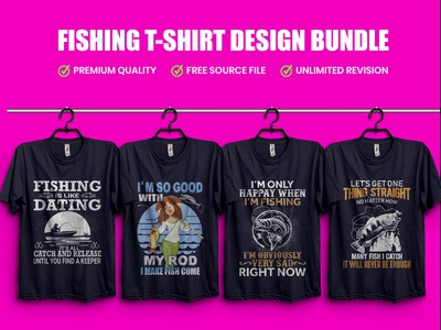 Best Fishing T-Shirt Design Template