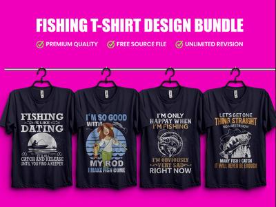 Best Fishing T-Shirt Design Template