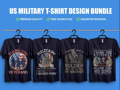 US Military T-Shirt Design Bundle - Hello Dribble