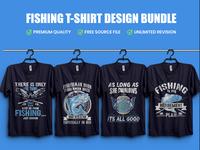 Best Fishing T Shirt Design Bundle - Typography T shirt Design