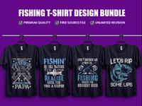 Fishing T-Shirt Designs Bundle - Hello Dribbble