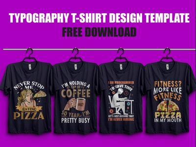 25 Typography T Shirt Design Free Download - Hello Dribbble