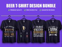 Beer Typography T Shirt Design - Hello Dribbble
