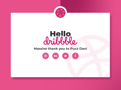 Hello Dribble! thank you photoshop hello hello dribbble