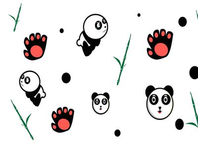 PATTERN PANDA flat design vector illustration design minimal pattern a day panda pattern design pattern