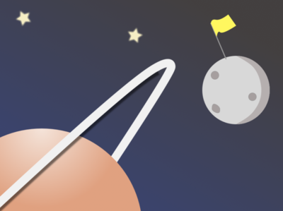 Space Shot vector space illustration