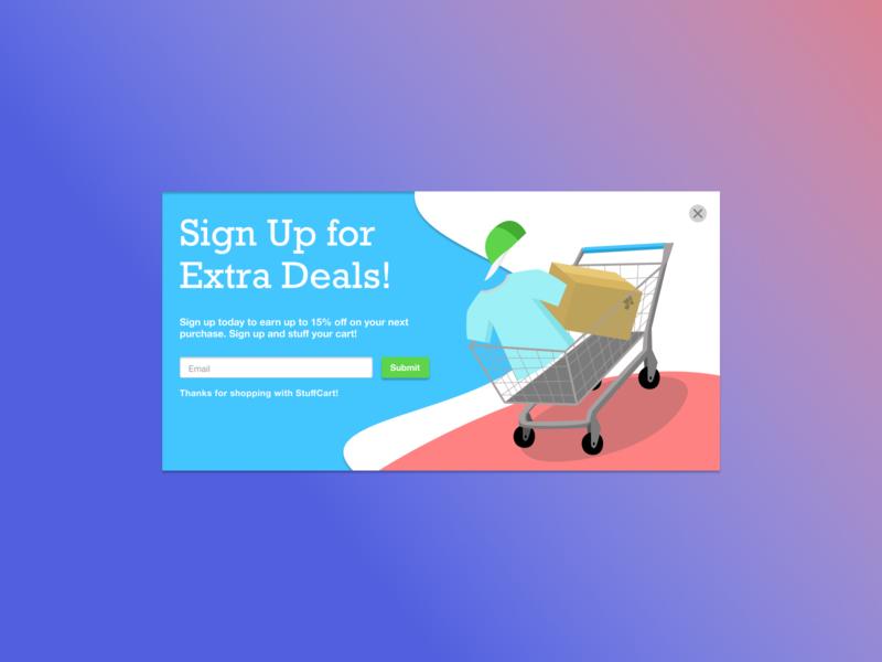 Daily UI - Pop Up shopping ui vector branding daily ui challenge design