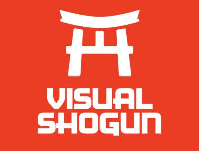Visual Shogun Branding flat vector illustration logo design typography branding