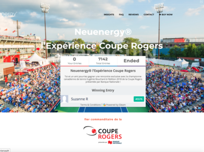 """Neuenergy """"ROGERS CUP EXPERIENCE"""" Contest"""