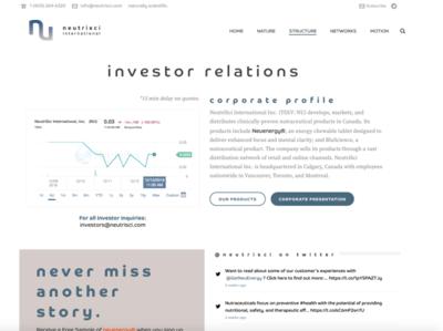 NeutriSci - Investor Relations Landing Page