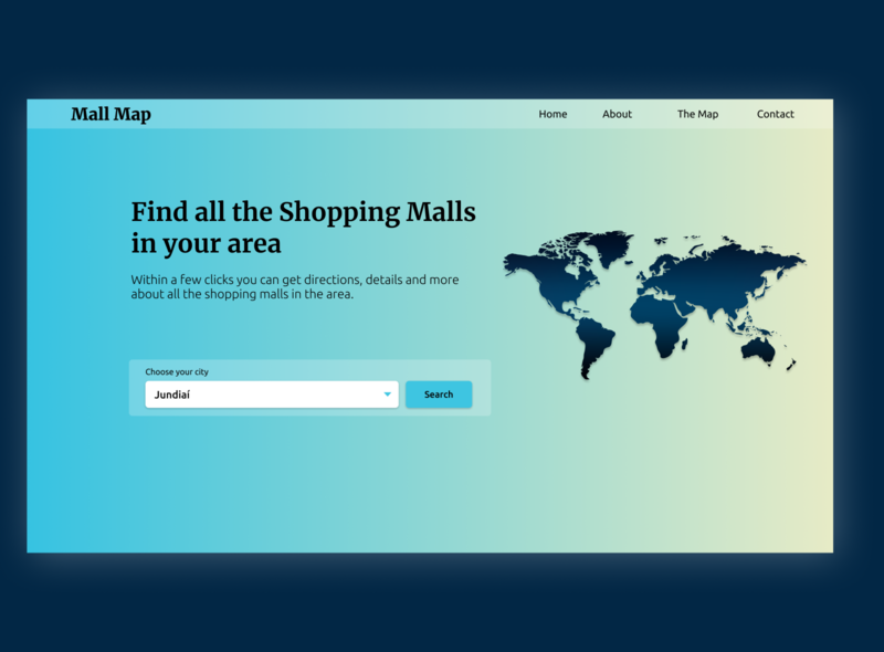 RandomUI Challenge - Mall Map web design ux ui minimal figma