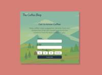 Daily UI 026 - Subscribe coffee shop form design form web flyer design flyer ux ui figma design minimal