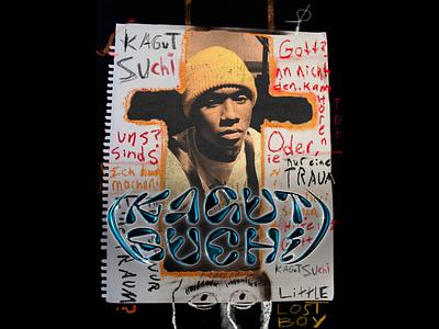 Kagutsuchi, Little Lost Boy graffiti illustration typography futurewave future design chrome type chrome acid design
