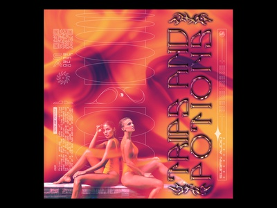 TRIPS AND POTIONS   FIRE   cover artwork shortdads details maximalism chrome type acid art cover art