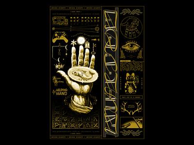 ARCANA ACADEMY shortdads design future illustration retrowave typography futurewave acid design