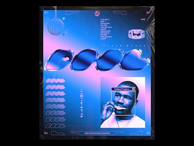 Day 064: Frank Ocean, DHL chrome type chrome retrowave futurewave future acid design typography design illustration