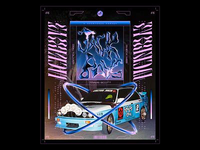 Day 075: JACKBOYS Album hiphop jackboys travis scott typography retrowave illustration futurewave future design chrome type chrome acid design