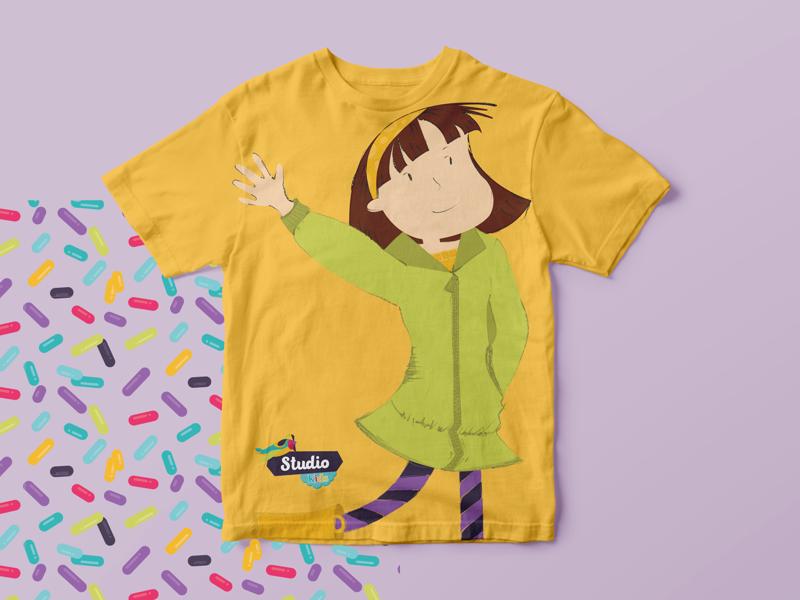 STUDIO KIDS PROJECT . Shirt Application characterdesign illustration pilates kids marketing visualidentity graphicdesign