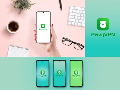 privy VPN branding minimal illustrator flat illustration design logo icon app