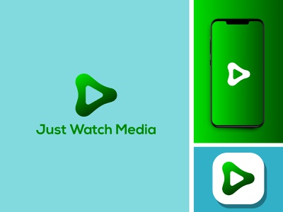 just watch media vector branding minimal illustration illustrator flat design logo icon app