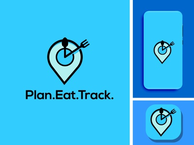 plan eat track branding vector minimal flat illustration illustrator design logo icon app