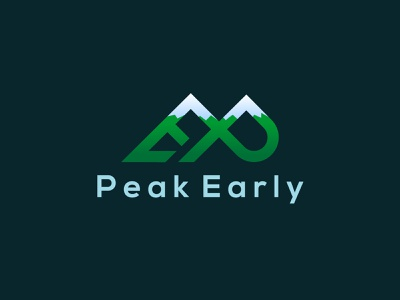 Peak Early initial typography vector graphic design branding illustrator flat illustration minimal design logo