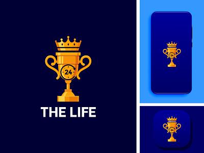 THE LIFE illustration illustrator graphic design branding design logo icon app