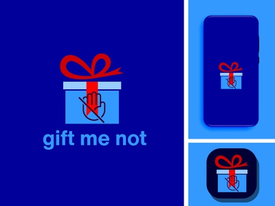 gift me not minimal illustration illustrator graphic design branding logo design icon app