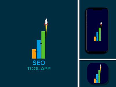 SEO TOOL APP vector graphic design flat branding illustrator minimal design logo icon app