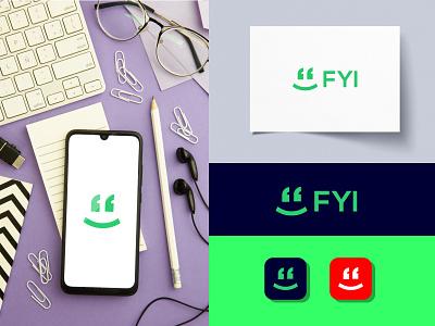 fyi vector graphic design flat branding illustrator minimal design logo icon app