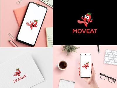 MOVEAT art vector graphic design flat illustrator minimal design logo icon app