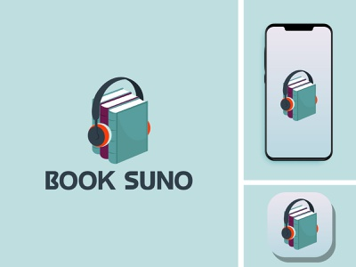 BOOK SUNO vector typography graphic design flat illustrator minimal design icon app logo