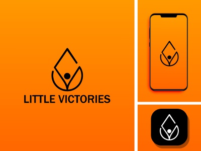 LITTLE VICTORIES vector graphic design branding flat illustrator minimal design icon app logo