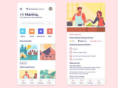 StayToGo Travel App design illustration animation typography logo branding vacation app web design digital agency minimal flight booking travel app ui travel app ui ux designer ecommerce landing page
