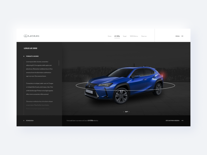 Lexus - Website auto product black ui design text alignment dark ui japan electric car lexus