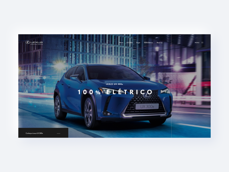Lexus - Website automotive auto interactive interaction interface alignment design product text home banner hero japan electric car lexus