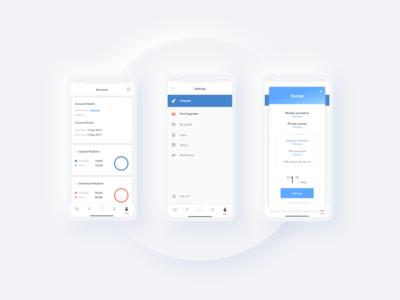 Radical - Mobile app UI