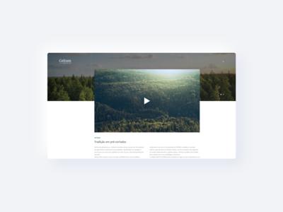 Nature Website UI