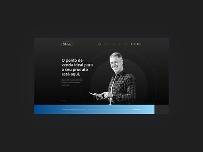 Product - Website UI banner home dark mode parallax dailyui blue grandient dark theme ipad dark ui dark