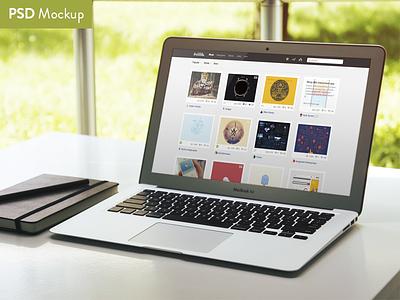 Another Mockup mockup macbook macbook air mock up showcase work presentation psd freebie free file free psd