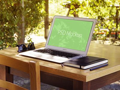 Another Macbook Air Mockup mockup macbook macbook air mock up showcase work presentation psd freebie free file free psd