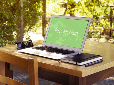 Another Macbook Air Mockup mockup macbook macbook air mock up showcase work presentation psd freebie free file free psd