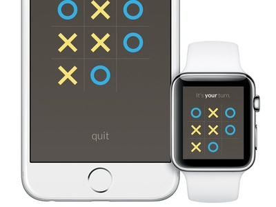 This is Exciting apple watch game ios game tic tac toe app design flat