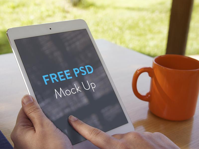 iPad mini Mockup mockup ipad mini mock up showcase work presentation psd freebie free file free psd