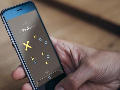 Hard Gameplay ios app flat clean minimalistic minimal color game tic tac toe chat