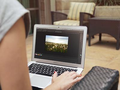Macbook Mockup (Free PSD) mockup macbook computer screen showcase presentation freebie psd photoshop