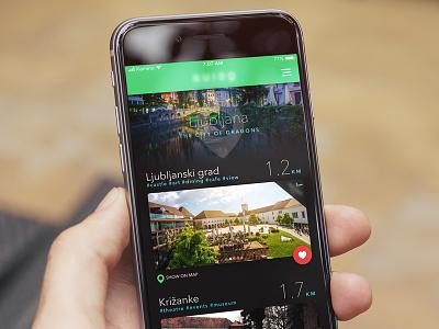 One More ui slovenia ljubljana city mobile ios app tiles planner trips